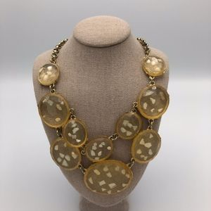 Francesca's yellow/cream statement necklace